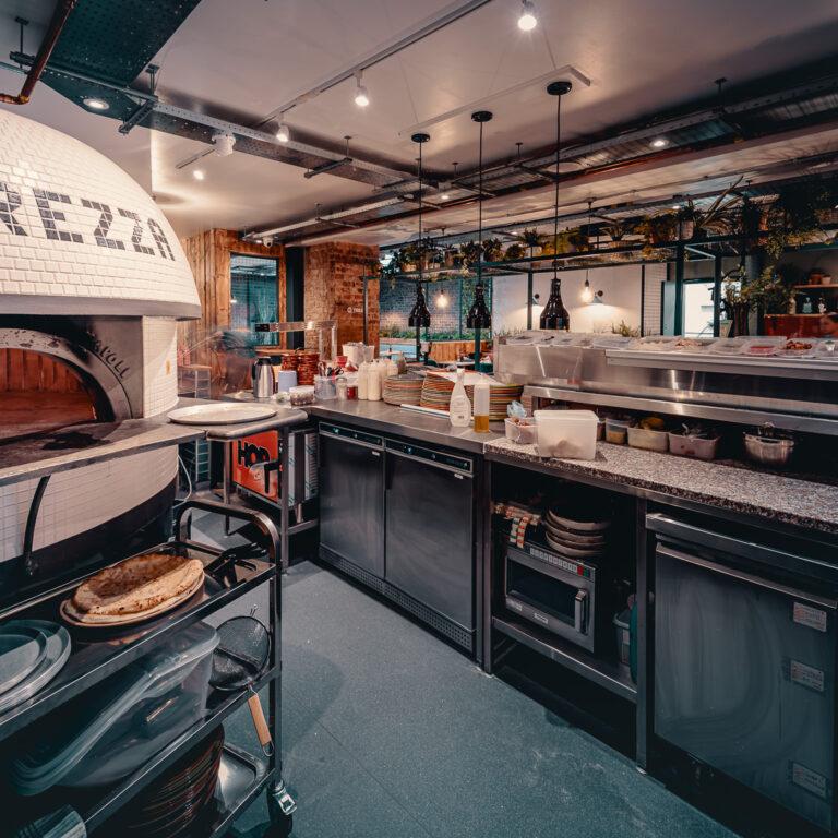 A pizza oven in Purezza Bristol