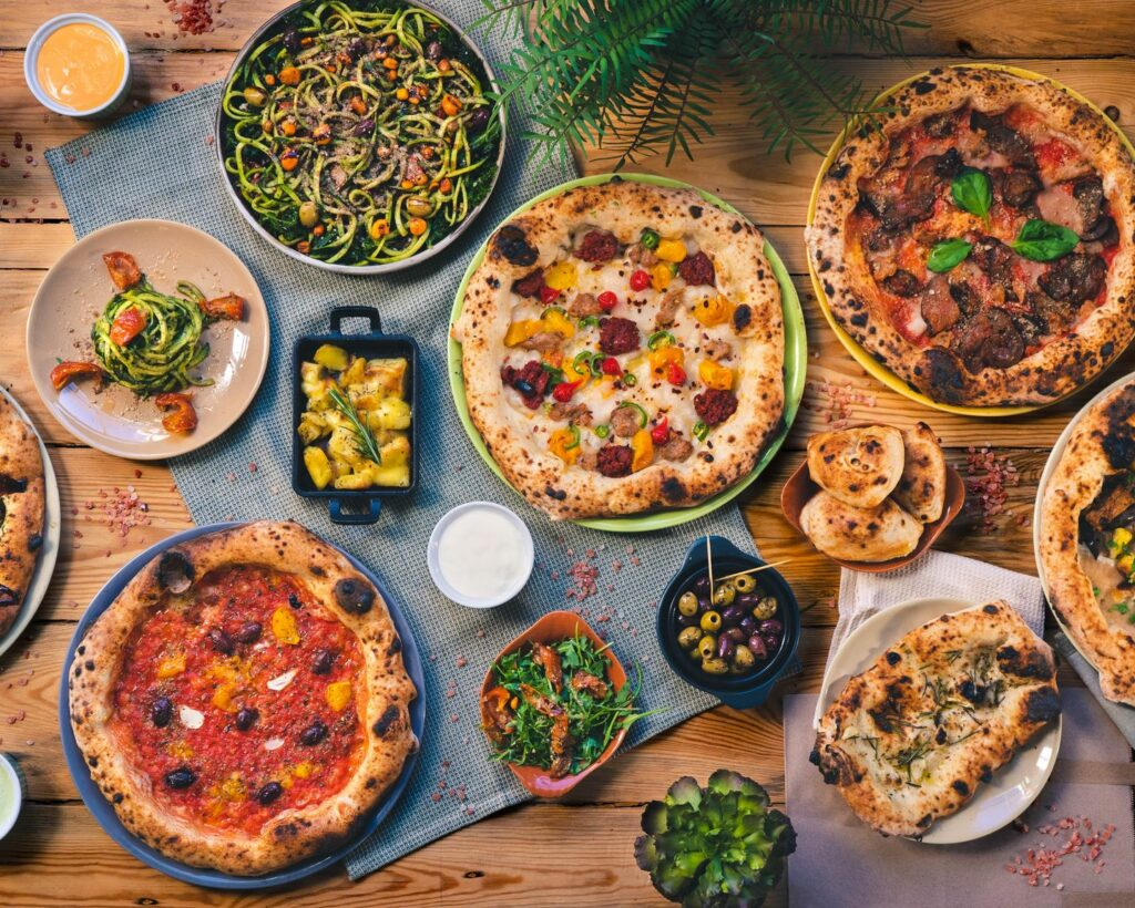 all pizzas at purezza manchester